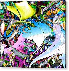 Beach Acrylic Print by Dave Kwinter