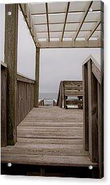 Beach Deck Acrylic Print by Patrick  Flynn