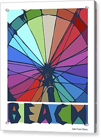 Beach Design By John Foster Dyess Acrylic Print