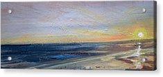 Beach Dusk 1 Acrylic Print by Paul Mitchell