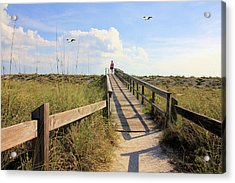 Beach Entrance Acrylic Print by Rosalie Scanlon