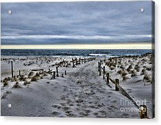 Beach Entry Acrylic Print by Paul Ward