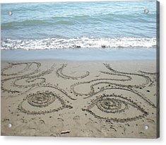 Beach Eyes Acrylic Print