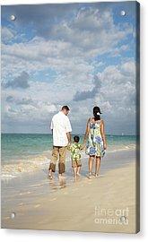 Beach Family Acrylic Print by Brandon Tabiolo - Printscapes