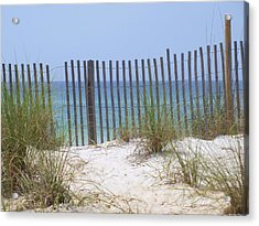 Beach Fence Acrylic Print by James Granberry