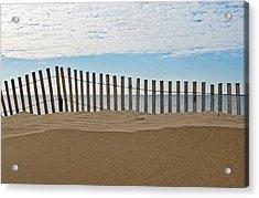 Beach Fence Acrylic Print by Maria Dryfhout