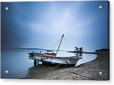 Beach Fishing Boat Acrylic Print