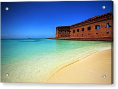 Beach Fort. Acrylic Print