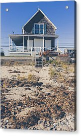 Beach Front Cottage Acrylic Print by Edward Fielding