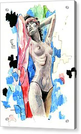 Beach Girl Acrylic Print by Jose Roldan Rendon