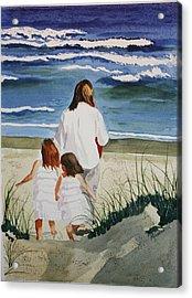 Beach Girls Acrylic Print