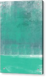 Beach Glass- Abstract Art Acrylic Print by Linda Woods