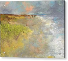 Acrylic Print featuring the painting Beach Grasses by Frances Marino