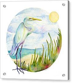 Beach Heron Acrylic Print