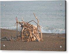 Beach House Acrylic Print by Amy Holmes