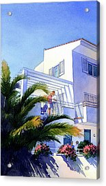 Beach House At Figueres Acrylic Print