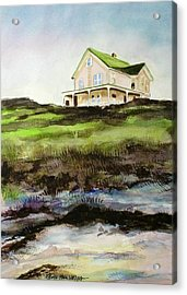 Beach House Block Island Acrylic Print