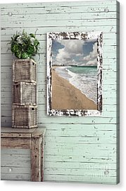 Acrylic Print featuring the photograph Beach House By Kaye Menner by Kaye Menner