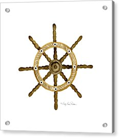 Beach House Nautical Boat Ship Anchor Vintage Acrylic Print by Audrey Jeanne Roberts