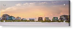Acrylic Print featuring the photograph Beach House Sunset by Whitney Leigh Carlson