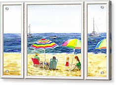 Beach House Window Acrylic Print by Irina Sztukowski