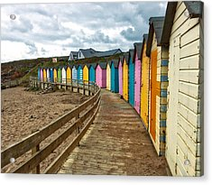 Beach Huts Acrylic Print by RKAB Works