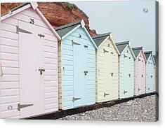 Beach Huts Vi Acrylic Print