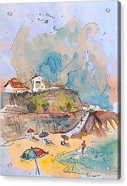 Beach In Ericeira In Portugal Acrylic Print by Miki De Goodaboom