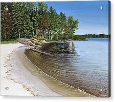 Beach In Muskoka Acrylic Print