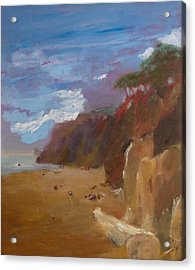 Beach In Santa Barbara Acrylic Print by Irena  Jablonski