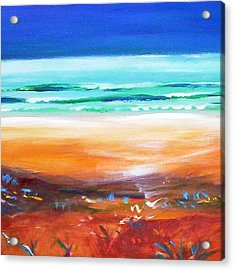 Acrylic Print featuring the painting Beach Joy by Winsome Gunning