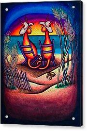 Beach Kats Acrylic Print