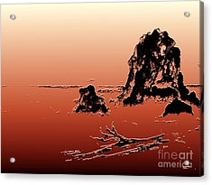 Acrylic Print featuring the photograph Beach Log by Carol Grimes