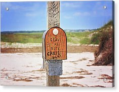 Beach Mail Acrylic Print