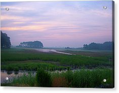 Beach Marsh Sunrise - 14 Acrylic Print by Donovan Hubbard