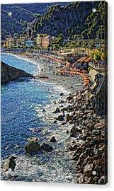 Beach Monterosso Italy Dsc02467 Acrylic Print