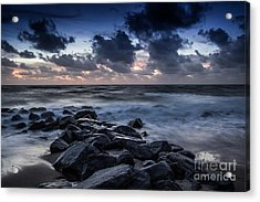 Beach Morn Acrylic Print by Richard Smukler
