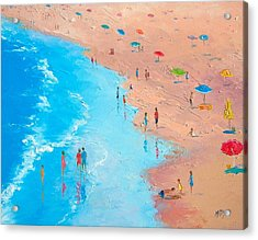 Beach Painting - A Sweltering Day Acrylic Print