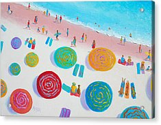 Beach Painting - A Walk In The Sun Acrylic Print by Jan Matson