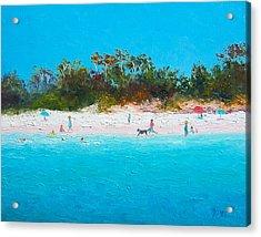Beach Painting All Summer Long Acrylic Print by Jan Matson
