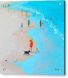 Beach Painting - Beach Day - By Jan Matson Acrylic Print