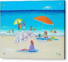 Beach Painting - Blazing Hot  Acrylic Print by Jan Matson