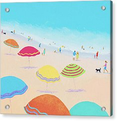 Beach Painting - Bright Sunny Day Acrylic Print