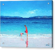 Beach Painting - Cooling Off Acrylic Print