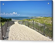 Acrylic Print featuring the photograph Beach Path At Cape Henlopen State Park - The Point - Delaware by Brendan Reals