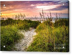 Beach Path Sunrise Acrylic Print