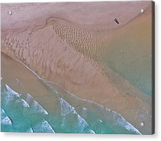 Beach Patterns At North Point On Moreton Island Acrylic Print