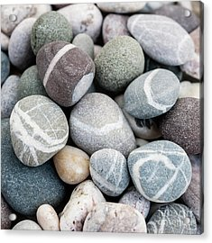 Acrylic Print featuring the photograph Beach Pebbles Close Up by Elena Elisseeva