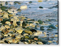 Beach Pebbles Acrylic Print by Stelios Kleanthous