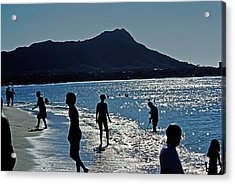 Beach People Acrylic Print